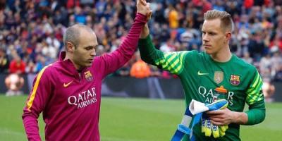Ter Stegen Tidak Menginginkan Andres Iniesta meninggalkan Barcelona